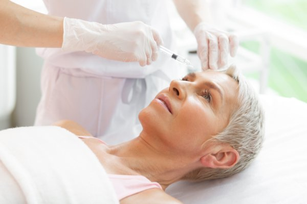 women receiving botox injection